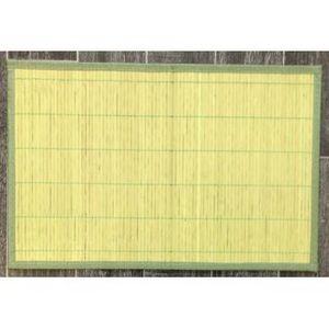 ILIAS - lot de 4 sets de table bambou vert - Set De Table