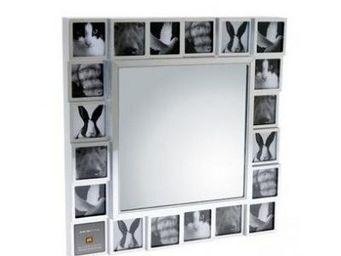 Present Time - miroir multi photos plastique et métal - Cadre Photo