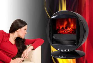 CHEMIN'ARTE - cheminée oscillante design fire bowl noire 40x30x3 - Poêle
