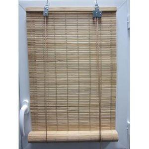 Luance - store enrouleur lattes bambou naturel 90x180 cm - Store Enrouleur