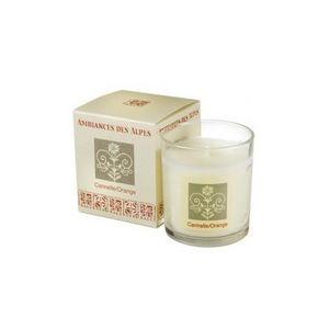 AMBIANCES DES ALPES - bougie parfumée canelle - orange -165 g - ambiance - Bougie Parfumée