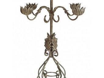 L'HERITIER DU TEMPS - chandelier 5 bougeoirs 53cm - Chandelier
