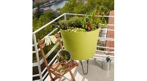 Grosfillex - pot de fleur design grosfillex tokyo potager - Pot De Fleur