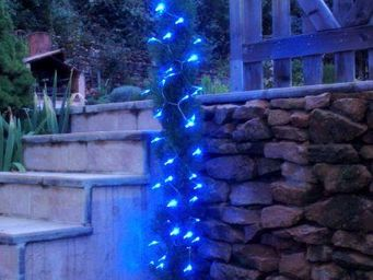 FEERIE SOLAIRE - guirlande solaire 60 leds bleues � clignotements 7 - Guirlande Lumineuse