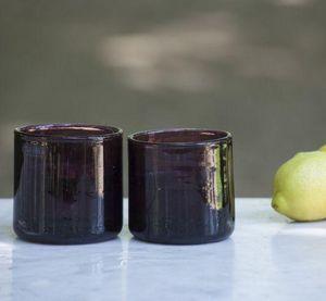 A CASA BIANCA - inca amethyst short glass - Verre