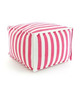 Dash and Albert - trimaran stripe fuchsia - Pouf D'extérieur