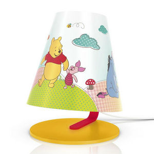 Philips - disney - lampe de chevet led winnie l'ourson h24c - Lampe À Poser Enfant