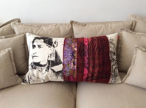 SISSIMOROCCO - fatya pourpre - Coussin Rectangulaire