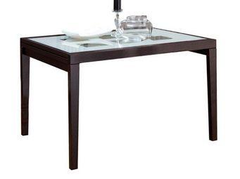 Domitalia - table repas extensible poker 120 - Table De Repas Rectangulaire