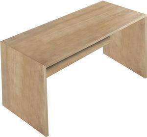 WHITE LABEL - bureau 160 cm en bois coloris chêne noyer - Bureau