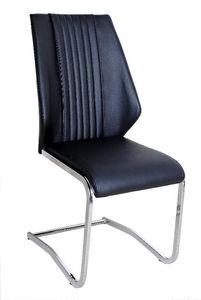 COMFORIUM - chaise ultra moderne simili cuir noir - Chaise