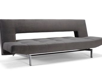 INNOVATION - canapé design wing gris convertible lit 110*200 cm - Banquette Clic Clac