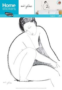 Nouvelles Images - sticker mural corps nu assis modigliani - Sticker