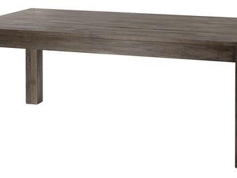 ZAGO - table repas en teck avec allonge cosmos gris - Table De Repas Rectangulaire