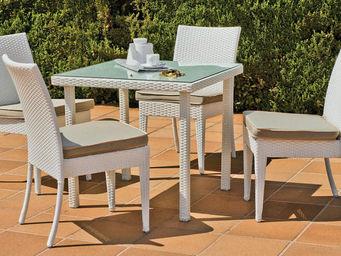HEVEA - petite table repas et fauteuils villalba - Salle À Manger De Jardin