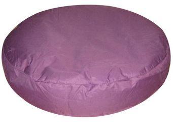 Cotton Wood - pouf rondo 110 cm prune - Pouf