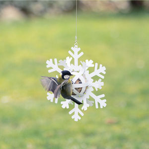 Wildlife Garden - distributeur de boules de graisse étoile de neige blanche - Mangeoire À Oiseaux