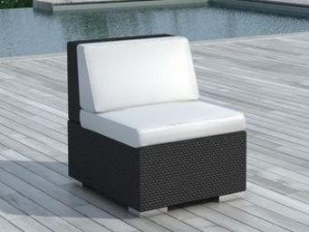 Delorm design - chauffeuse de jardin résine tressée (noir) - Fauteuil De Jardin