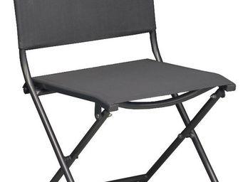 PROLOISIRS - chaise pliante textilène et acier (lot de 2) gris - Chaise De Jardin Pliante
