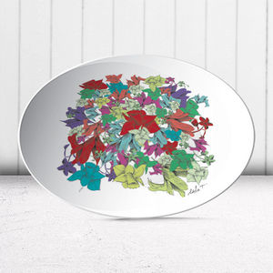la Magie dans l'Image - assiette fleurs motif - Assiette De Présentation