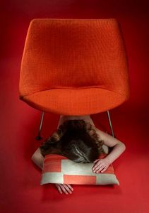 ORANGE OR RED -  - Coussin Carré