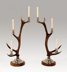 Clock House Furniture - candlestick - 3-arm nickel - Bougeoir