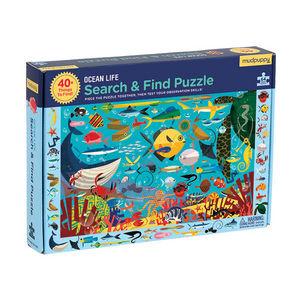 BERTOY - search & find puzzle ocean life - Puzzle Enfant