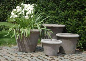 Terracotta d'Arte - conca alta liscia grigio - Pot De Jardin
