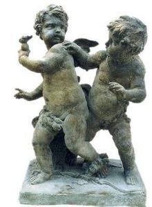 Esprit Antique - sculpture de deux putti en bronze - Sculpture