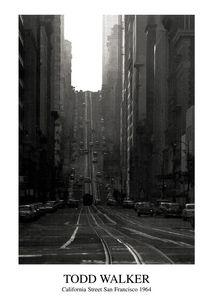 Nouvelles Images - affiche california street san francisco 1964 - Affiche