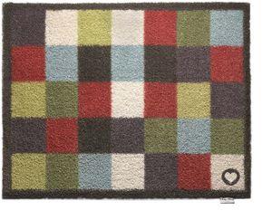 HUG RUG - tapis en fibres naturelles à carreaux 65x85 cm - Paillasson