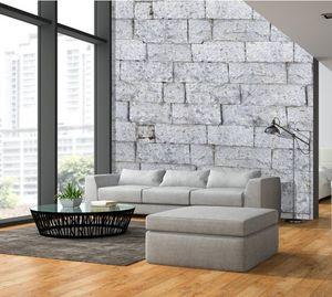 IN CREATION - pierres blanches  - Papier Peint Panoramique