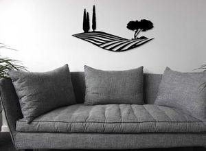Generative-lab - paysage de toscane-- - Décoration Murale