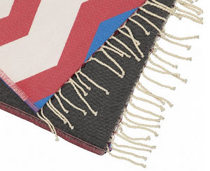 FUTAH BEACH TOWELS - odeceixe rouje & noir - Fouta Serviette De Hammam