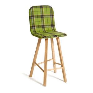 COLE - tria stool high back upholstered - Chaise Haute De Bar