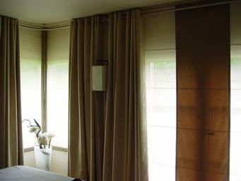 PIETRO SEMINELLI - panneaux abaca pli /rideaux/applique - Panneau De Tissu
