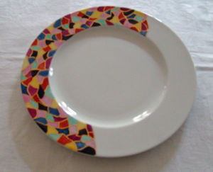 Mademoiselle Zoé - arlequin - Assiette Plate
