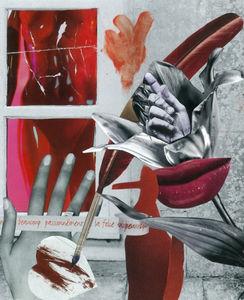 Caroline  de Sars - passion rouge - Tableau Contemporain
