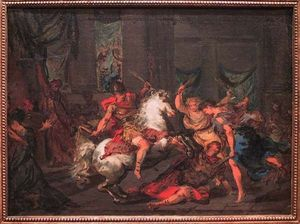 Galerie Emeric Hahn - h�liodore chass� du temple - Huile Sur Toile Et Huile Sur Panneau