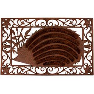 BEST FOR BOOTS - paillasson hérisson en coco et fonte 72x45x2.5cm - Paillasson
