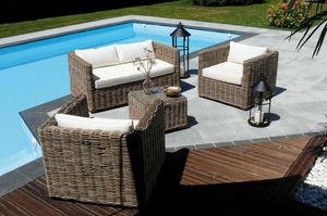 Dream Garden - salon de jardin 4 places nattu en pin et rotin kub - Salon De Jardin