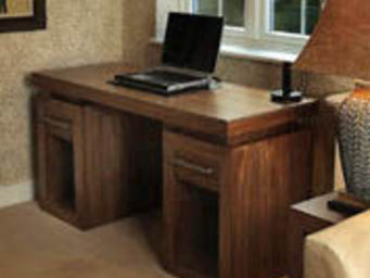 Gerard Lewis Designs - twin pedestal desk in walnut - Bureau