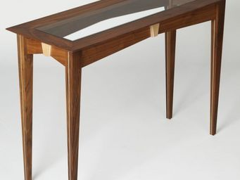 Gerard Lewis Designs - console table with glass top - Table Console