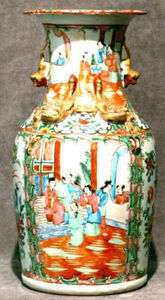 ERNEST JOHNSON ANTIQUES - large vase de canton - Vase Décoratif