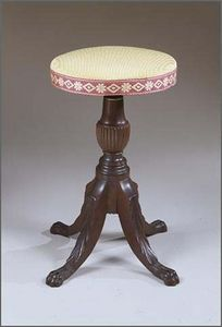 CARSWELL RUSH BERLIN - extremely fine federal carved mahoganypiano stool - Tabouret