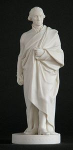 CHARLES AND REBEKAH CLARK - a parian figure ~ george washington - Sculpture