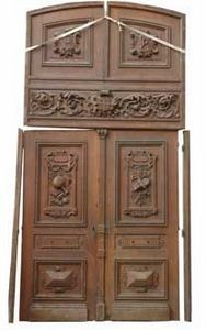 GALERIE MARC MAISON - oak 19th century double door - Porte Ancienne