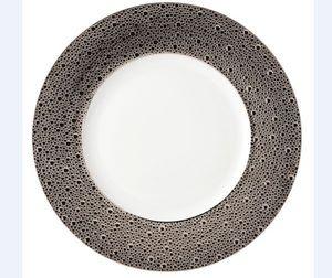 Bernardaud - ecume platine - Assiette Plate