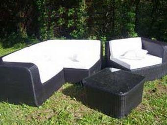 UsiRama.com - muraille ensemble salon de jardin luxe beige - Canapé De Jardin
