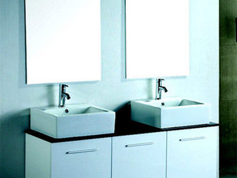 UsiRama.com - cublanc design en double vasque 1400mm - Meuble Double Vasque